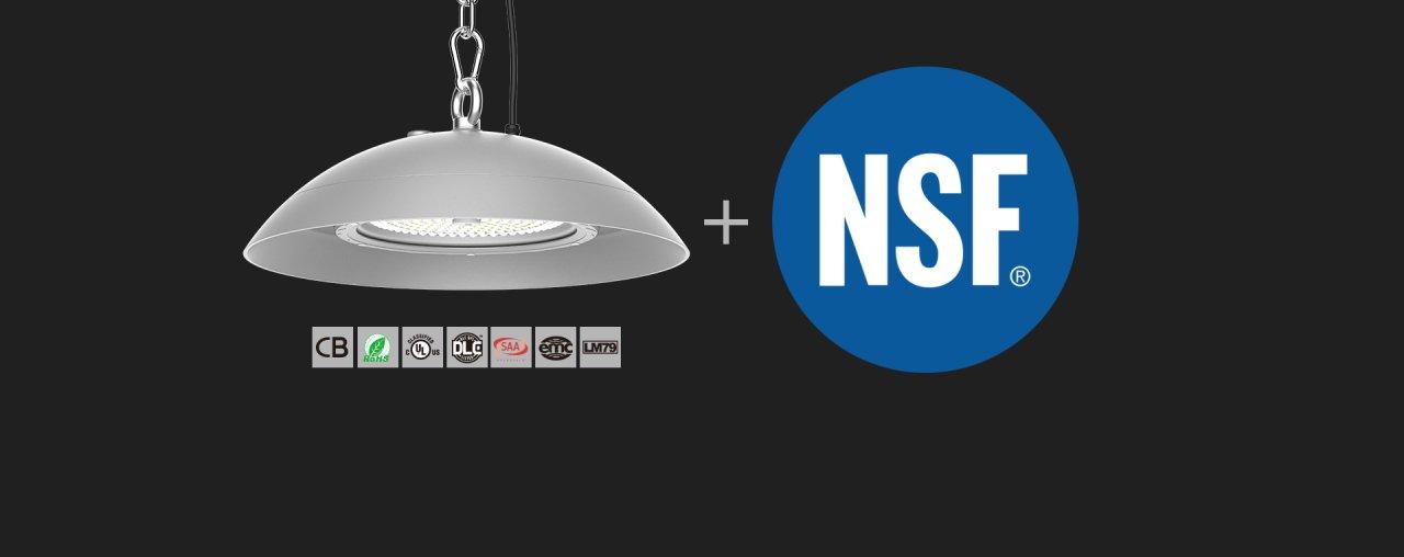 A 2M possui uma nova linha de iluminação industrial para o ramo alimentar que respeita as normas NSF